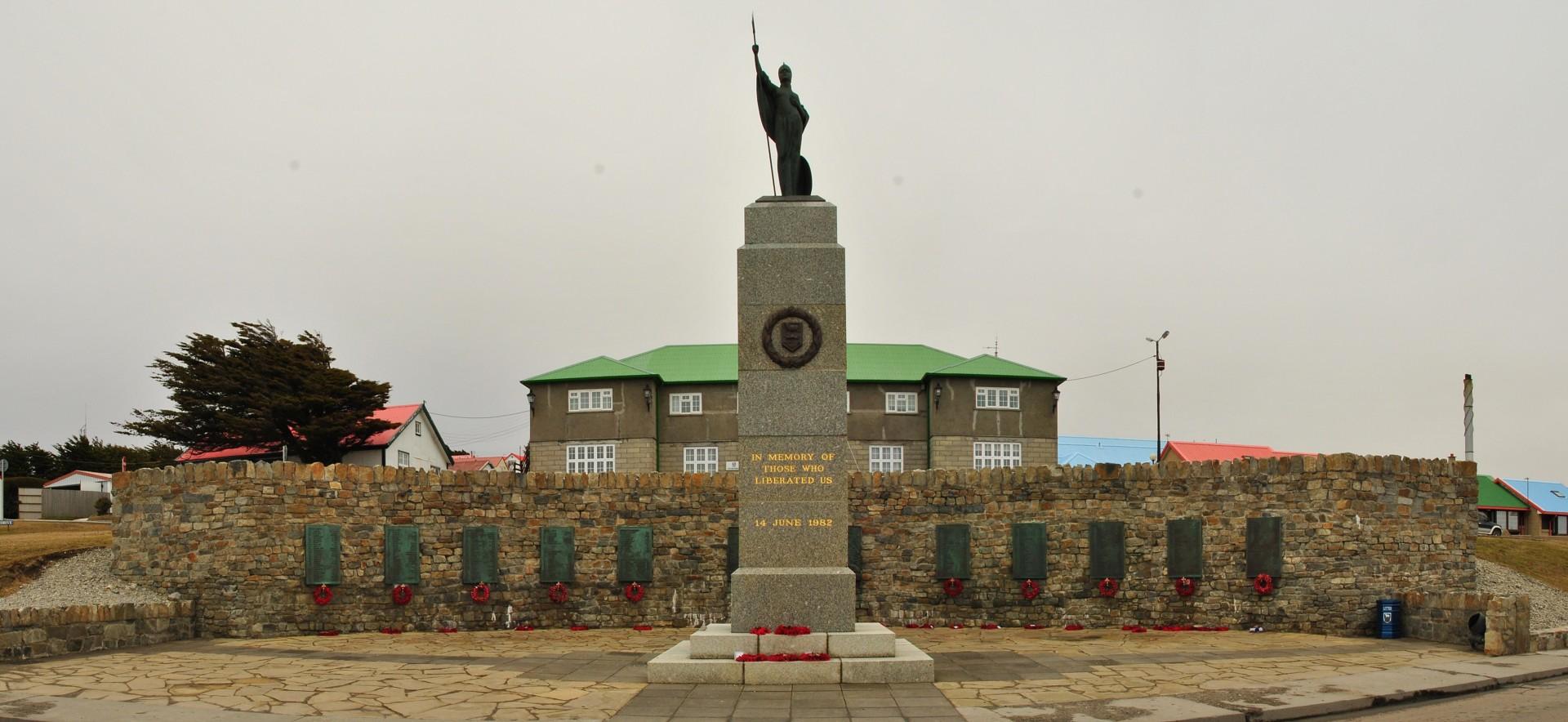 The Falklands War Memorial in Stanley Falkland Islands