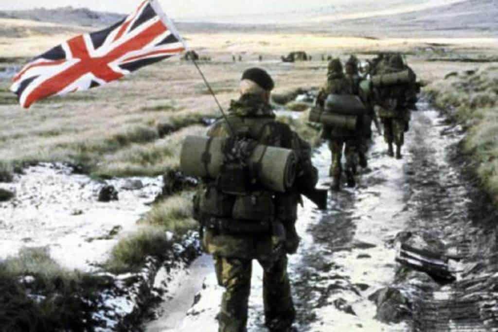British soldier during the war