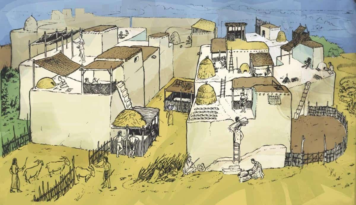 Çatalhöyük settlement area illustration