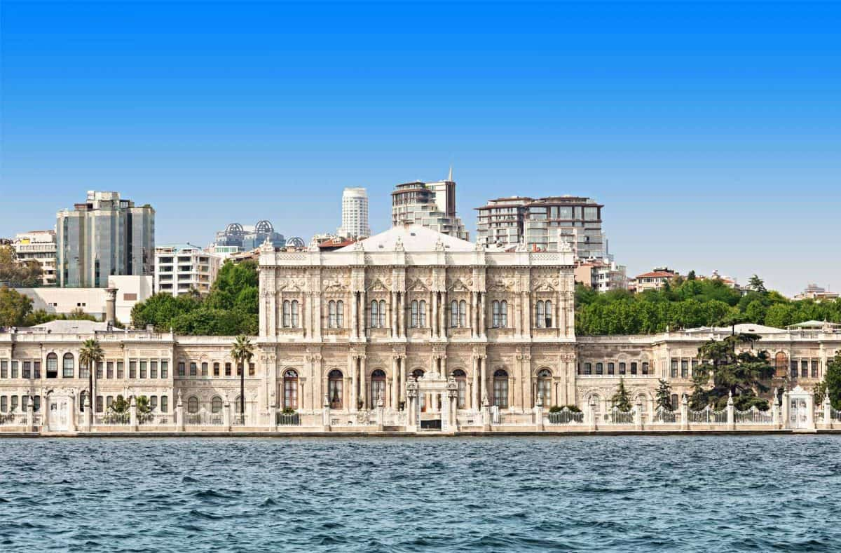 Dolmabahce Palace from the Bosphorus