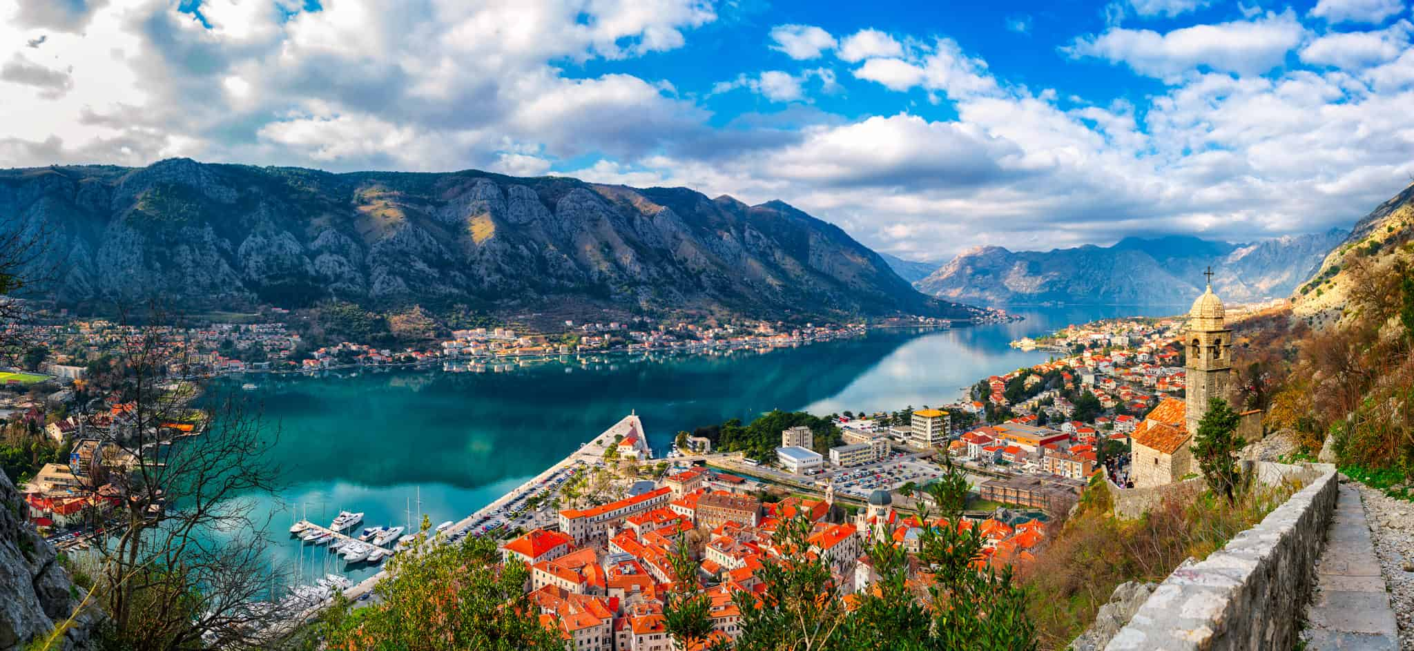 Panaromic view of the Bay of Kotor