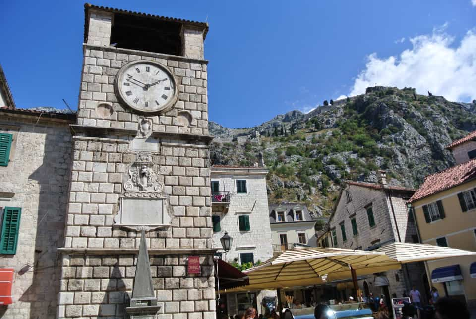 Clock tower of the Kotor Old Town