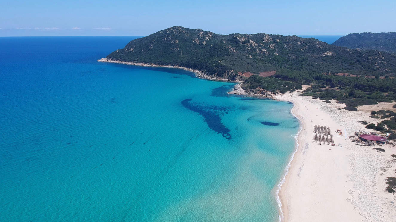 Tropical beaches of Sardinia Island