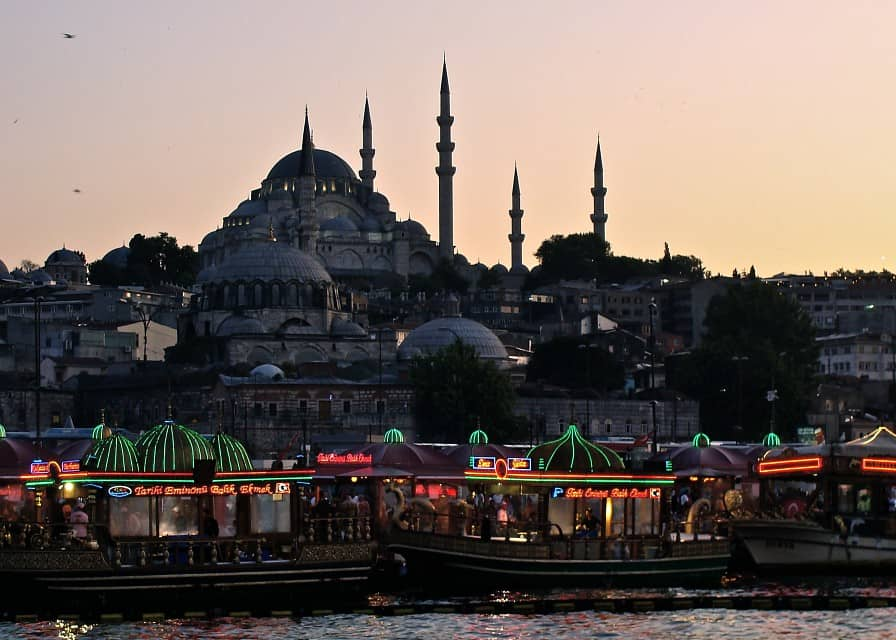 Rustem Pasha and Suleymaniye Mosques in one picture
