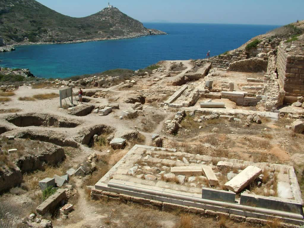 Remains of the Apollon Temple at the Knidos Ancient City