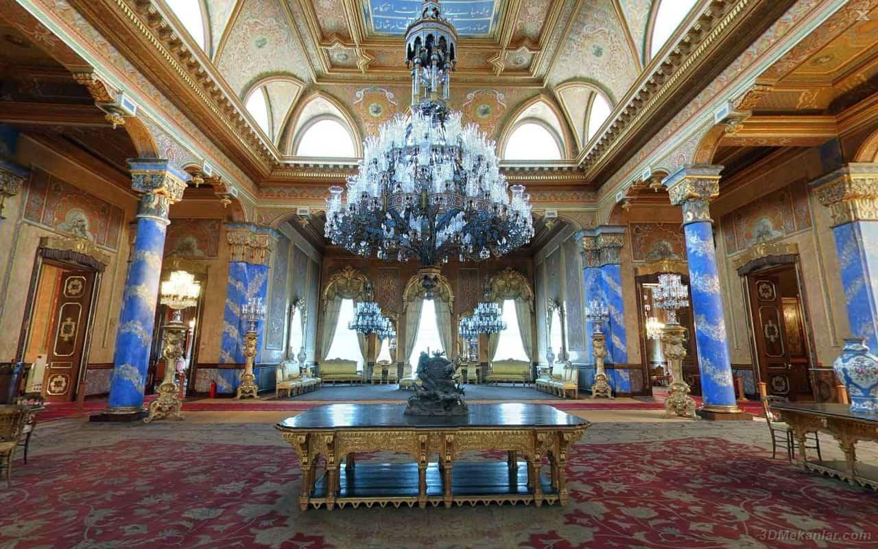 Main hall of the Beylerbeyi Palace