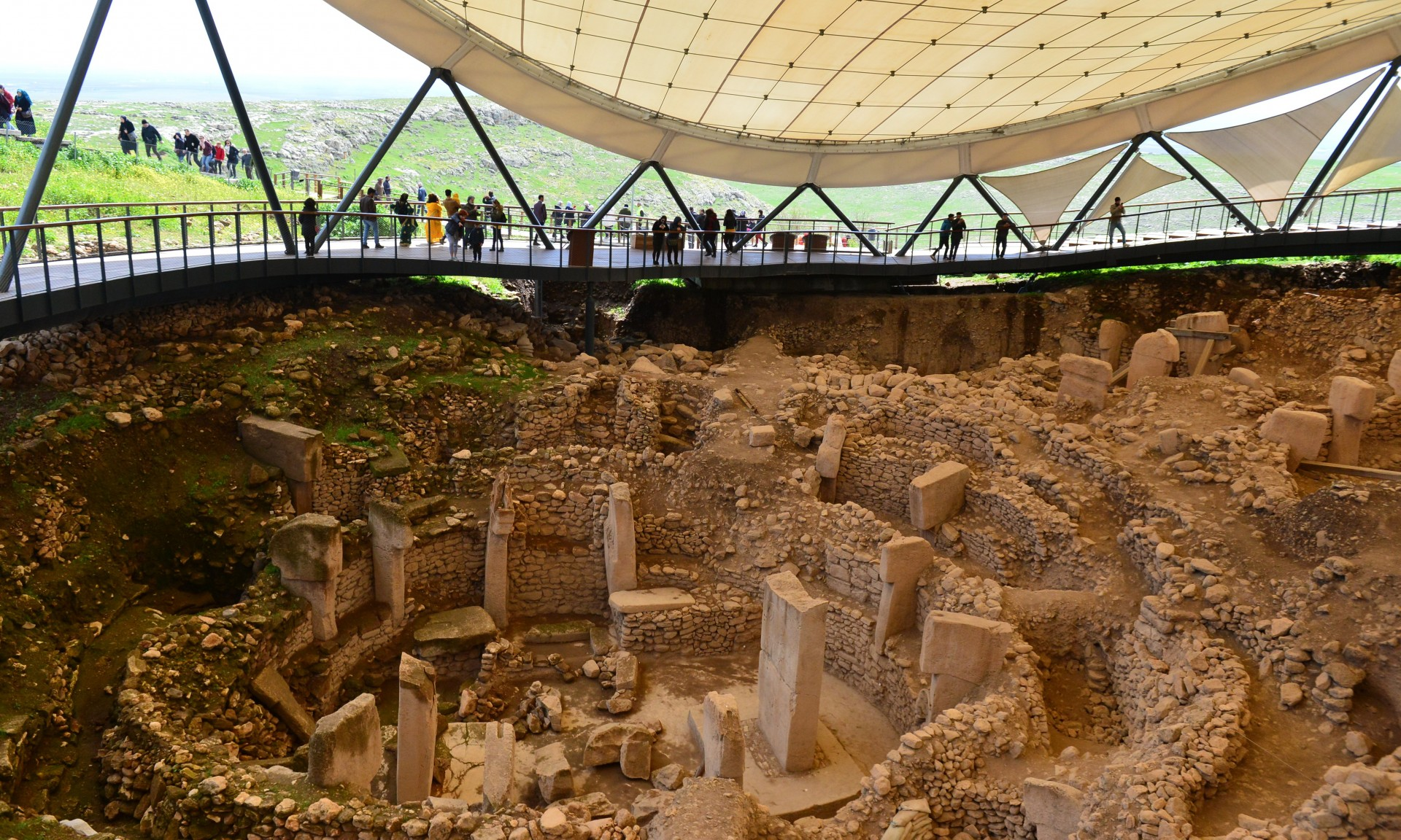Gobeklitepe ancient temple Sanliurfa