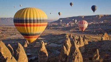 hot balloon in cappadocia