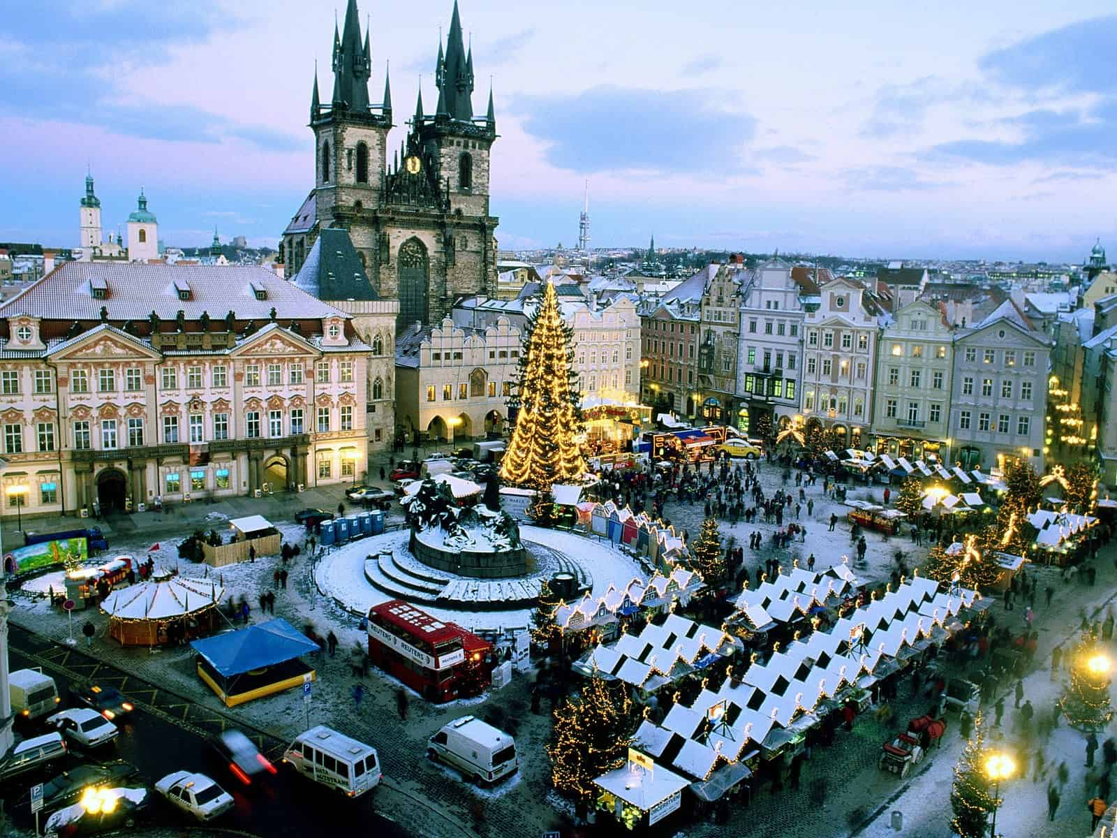 Winter market on the Old Town Square