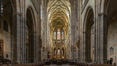 Interior of St. Vitus Cathedral, Nave, Prague