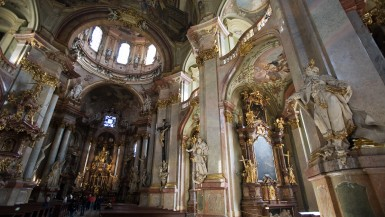 interior of St. Nicholas Church of Prague