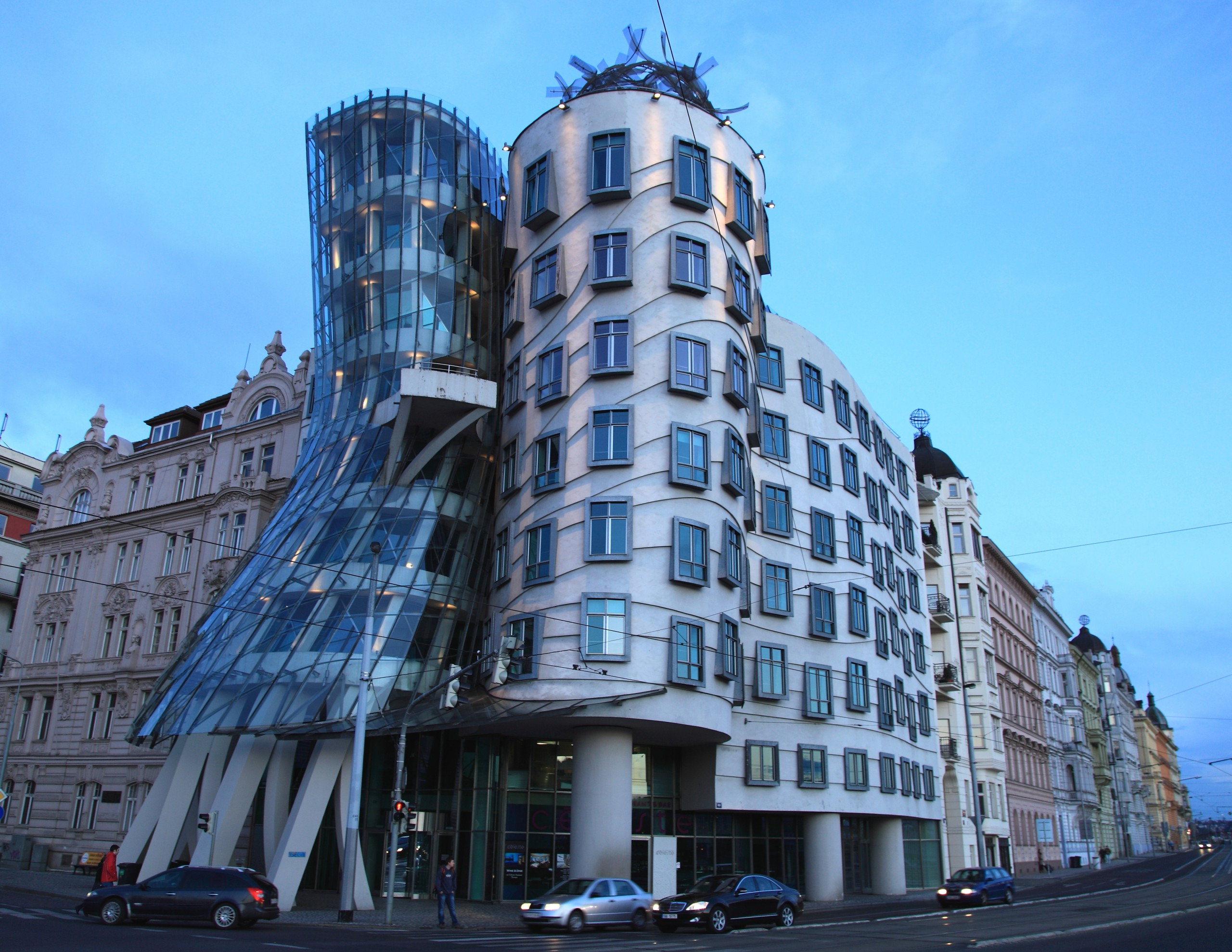 Dancing House Hotel from street level