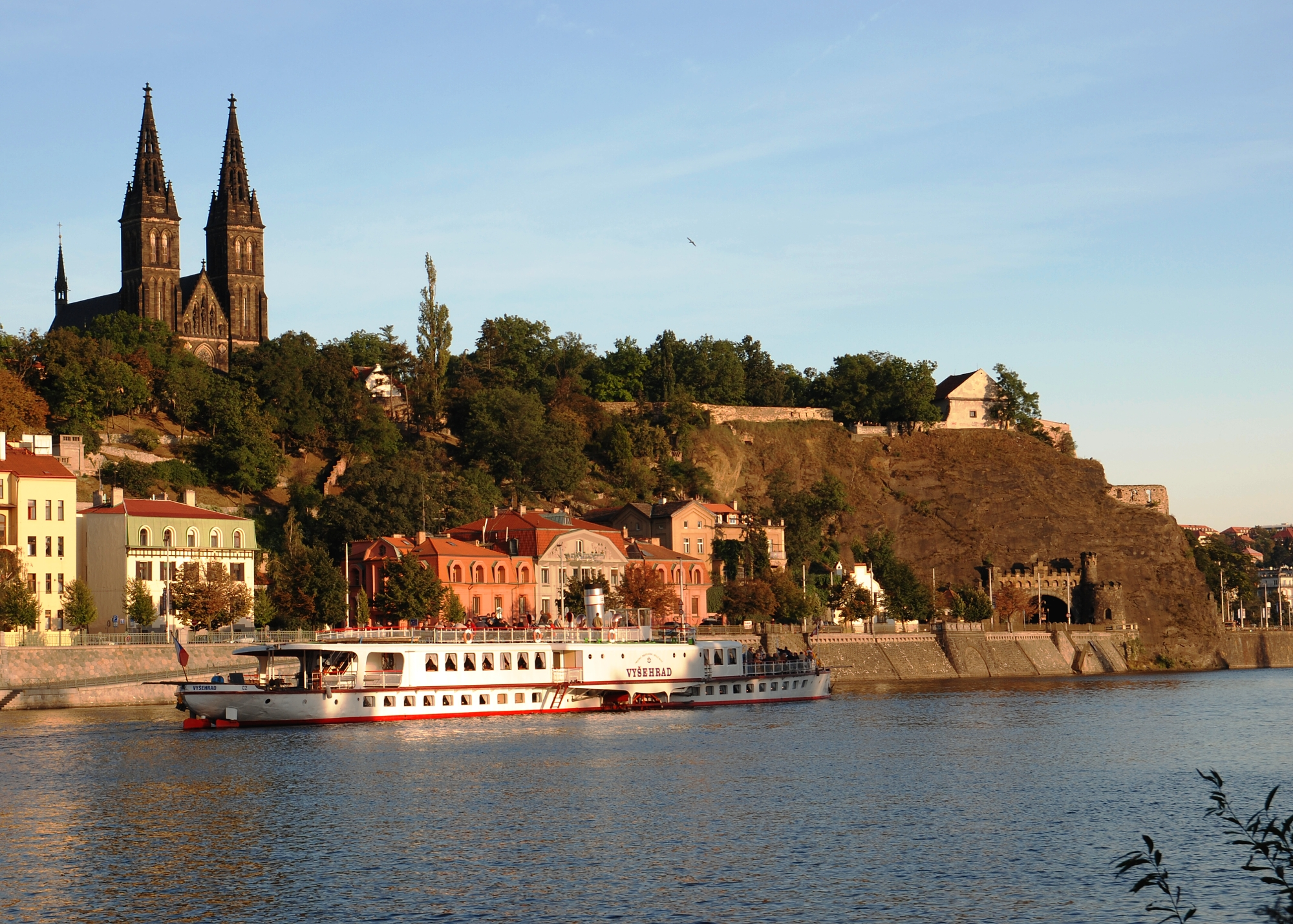 Vysehrad Castle from the Vltava river