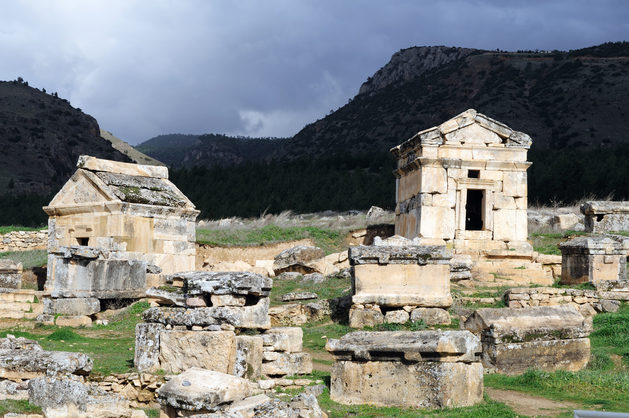 Necropolis in the Hierapolis Ancient City, Denizli