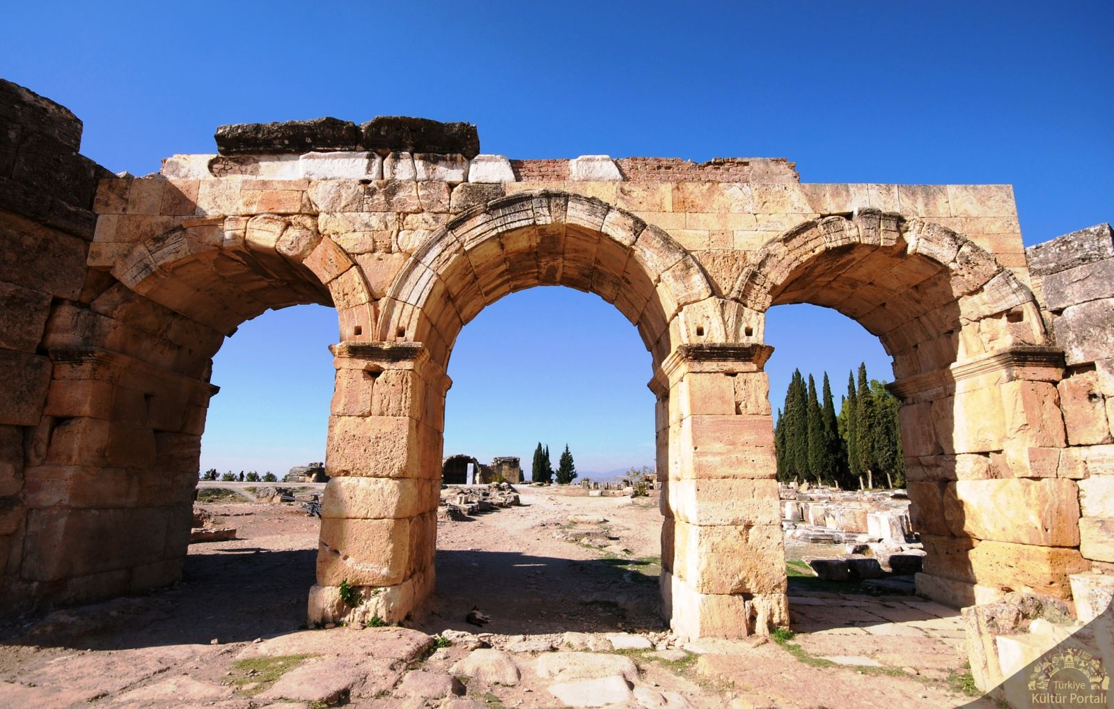 Entrance of the Frontinus street, Denizli