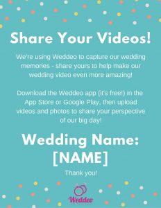 Weddeo app printables