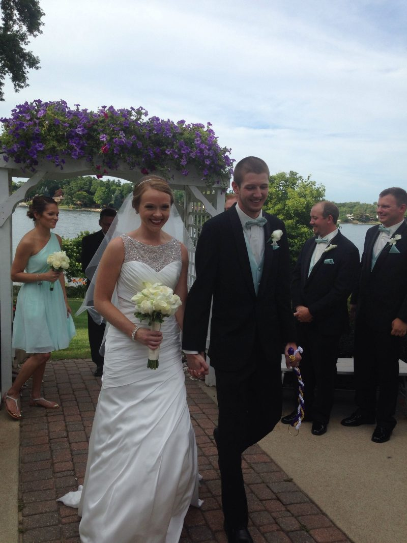 Real Weddeo Weddings: Katie & Brandon's Lakeside Michigan Wedding