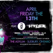 Friday The 13th Feat. ITEK and HYDEE 9pm to 3:30am