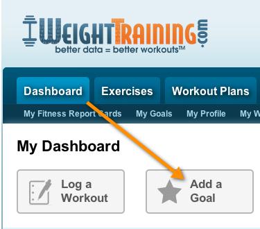 Add Fitness Goal