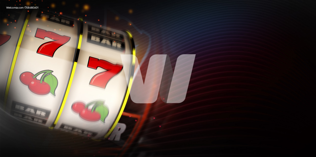 Motion Blur Slot Machine Casino Banner Background