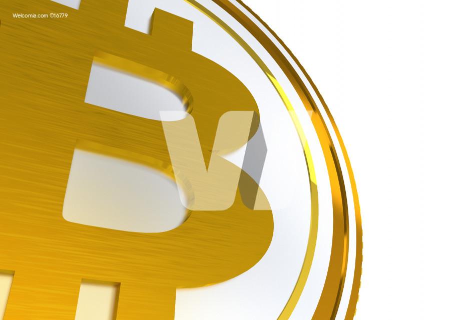 3D Bitcoin Symbol Isolated