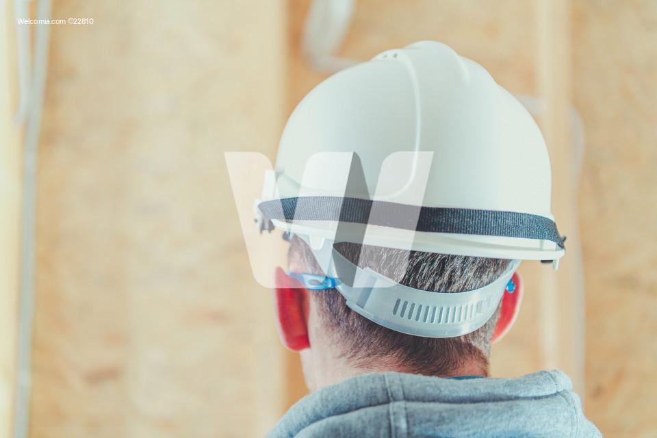 Architect in White Hard Hat