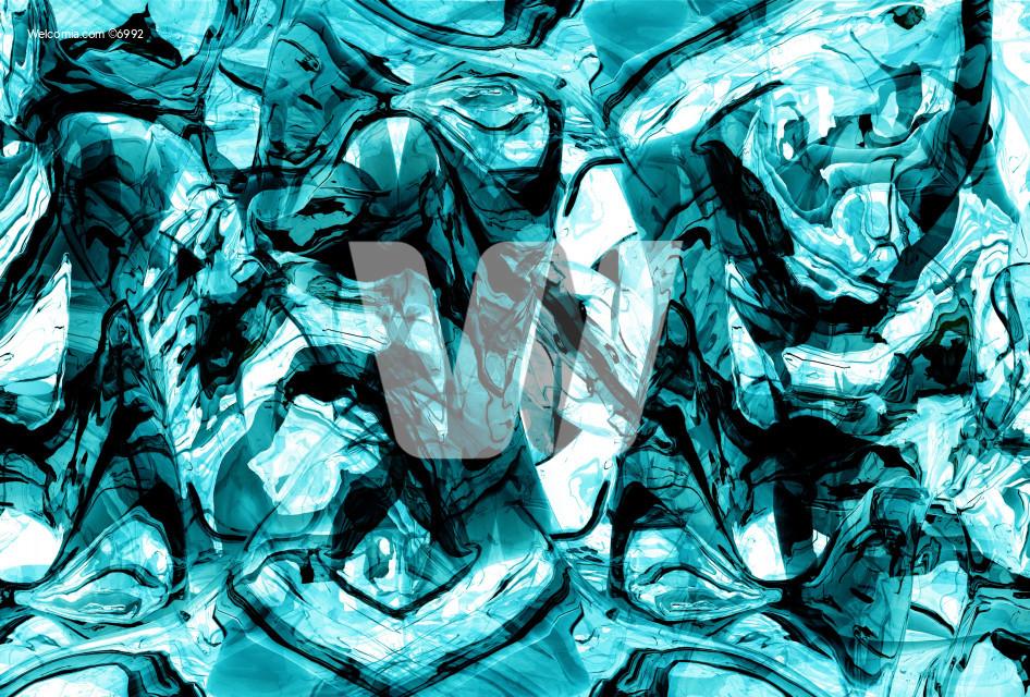 Abstract Blue Liquids