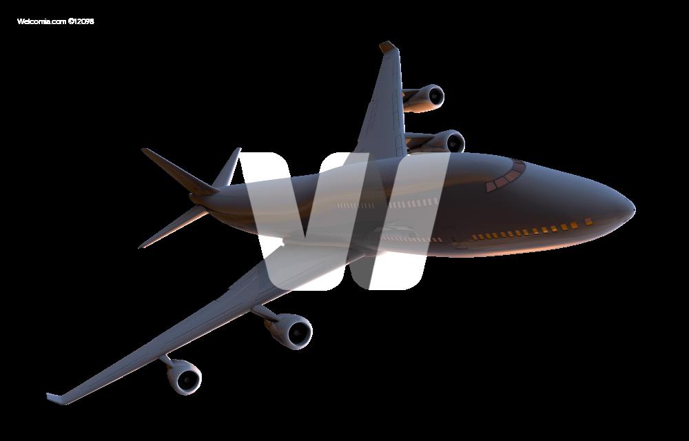 Airplane 3D PNG Dark