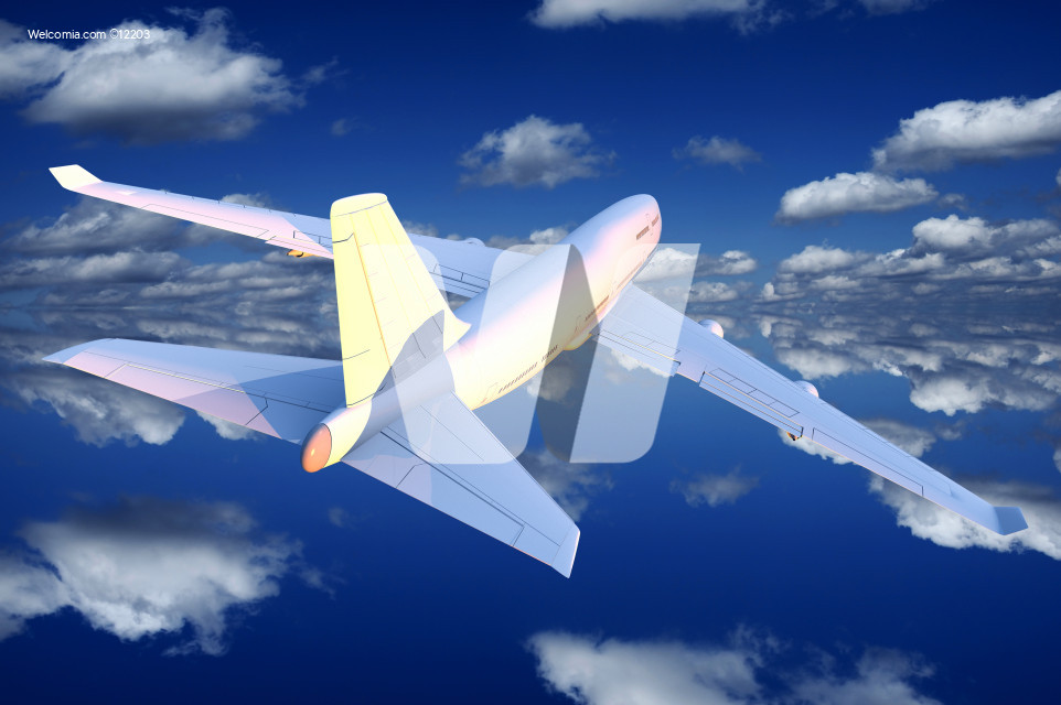 Airplane Flight Illustration
