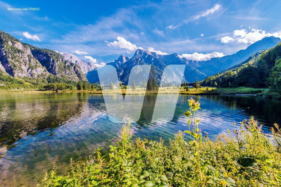 Alpine Lake Almsee Austria