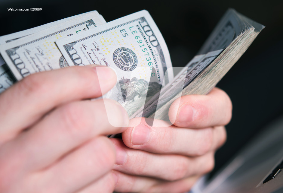 American Dollars Money Count