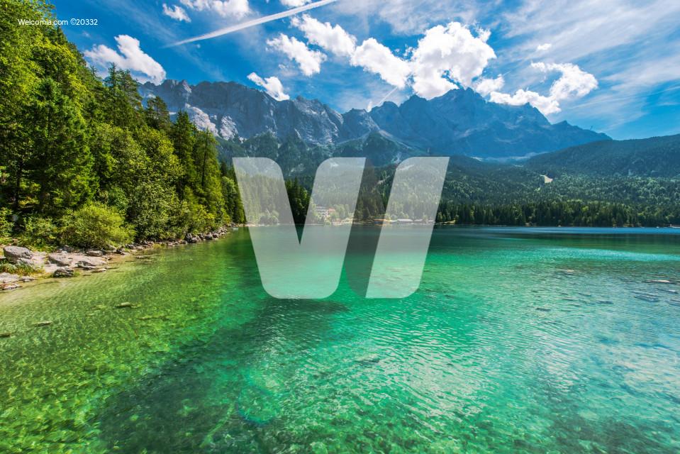 Bavarian Lake Eibsee Germany