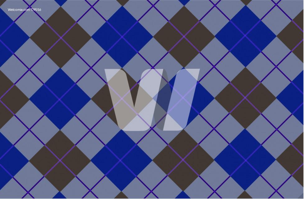 Blue-Brown Vector Tartan