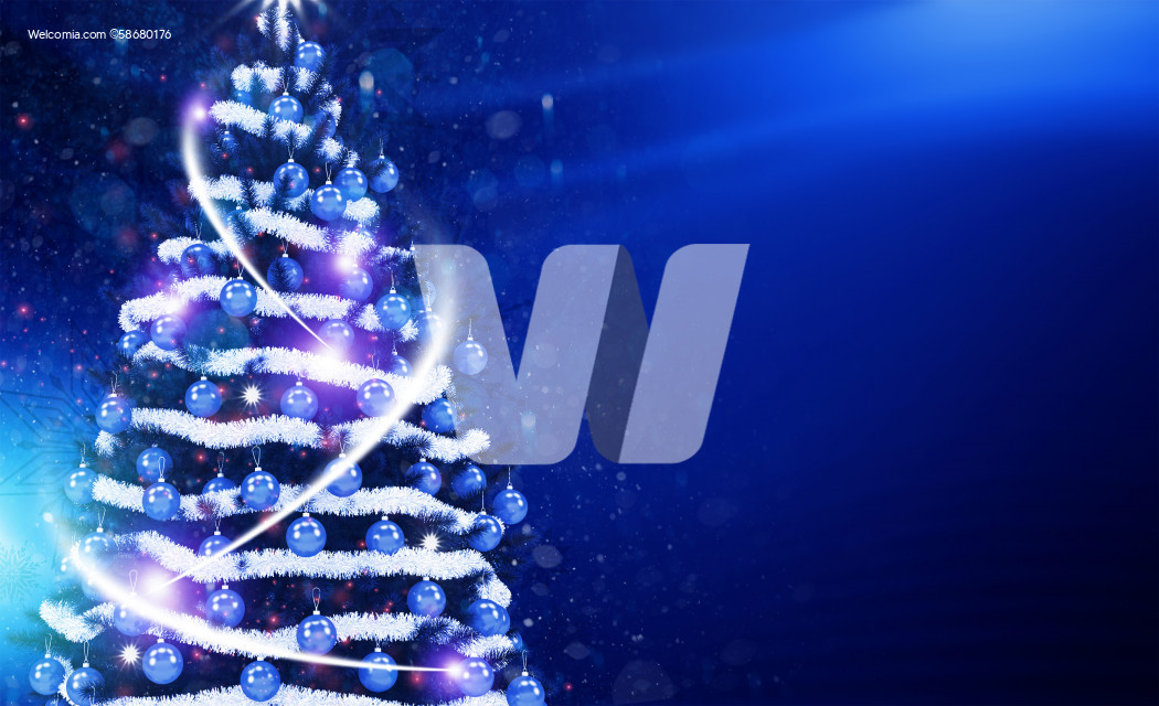Cool Blue Christmas Tree Postcard