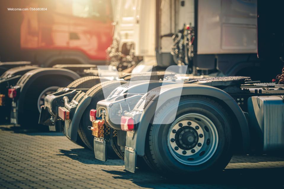 Brand New Semi Truck Tractors in Line