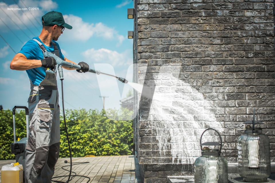 Brick Wall Pressure Washing