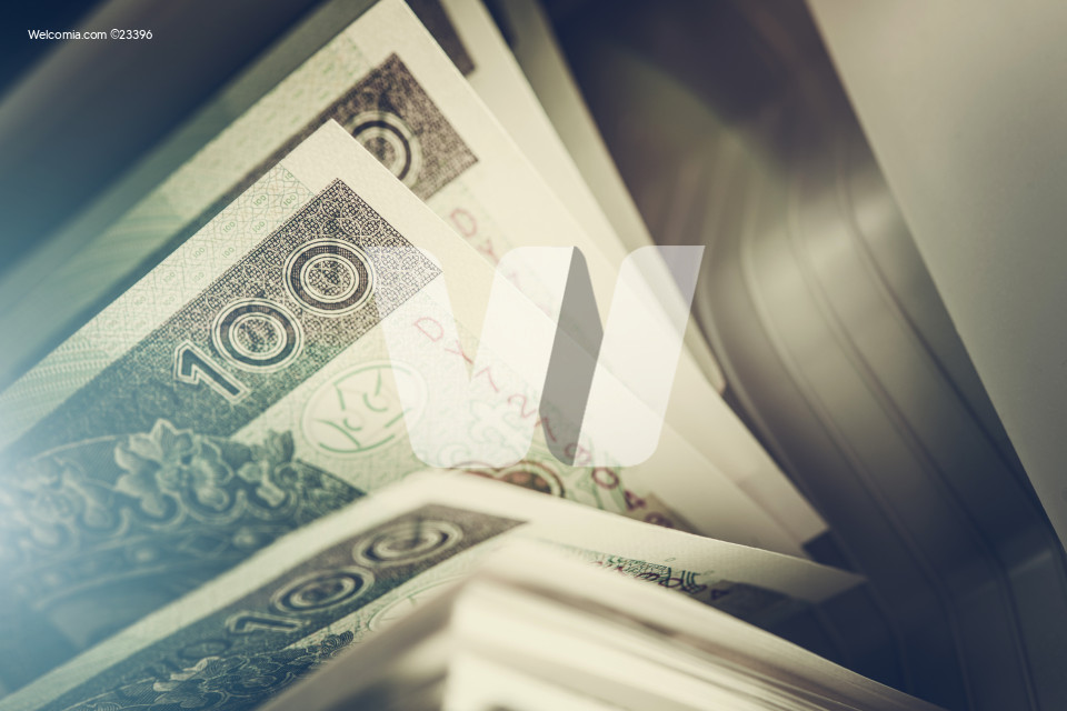 Business Concept with Polish Zloty Banknotes