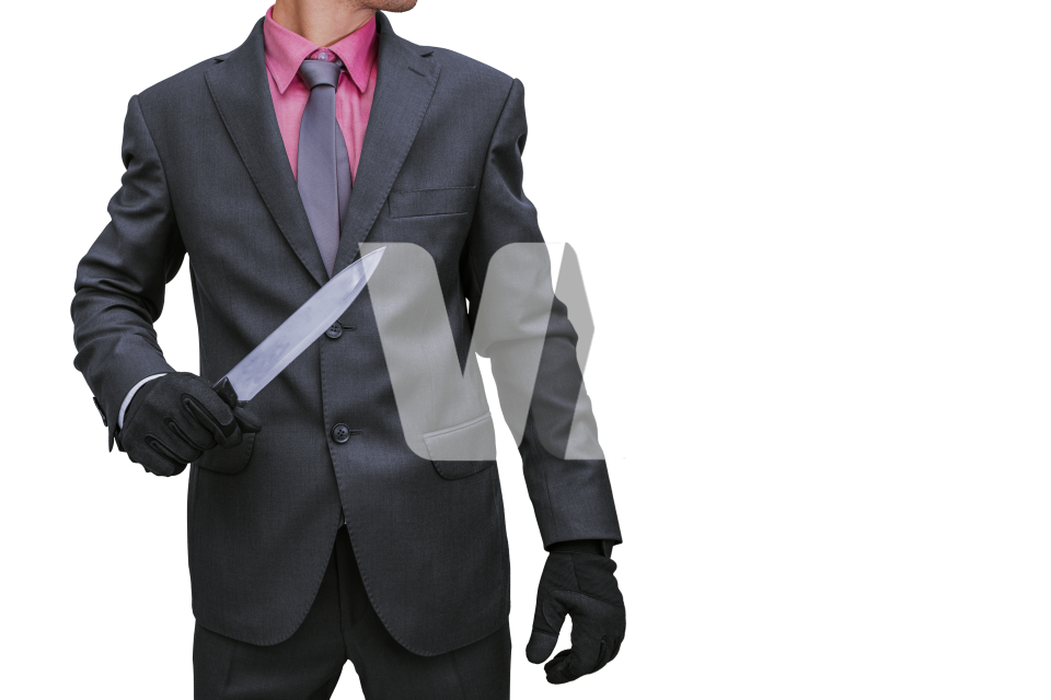 Businessman with Knife PNG