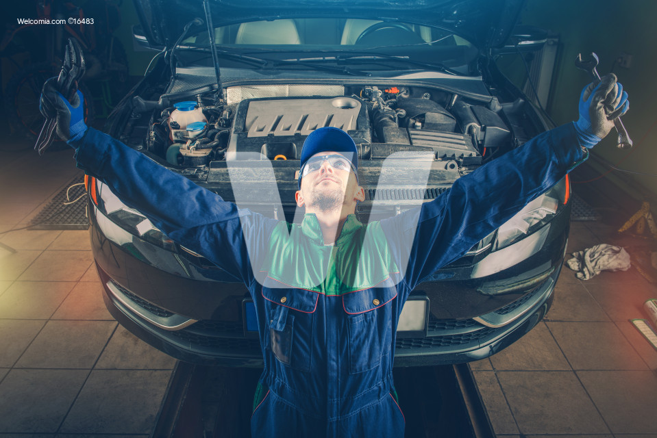 Car Fixing Moment of Triumph
