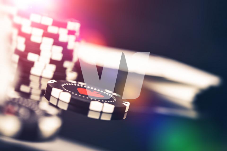 Casino Game Chips Closeup