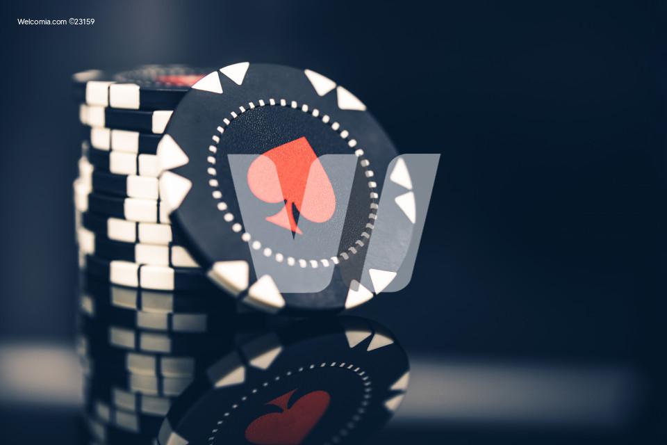 Casino Games Chips Closeup
