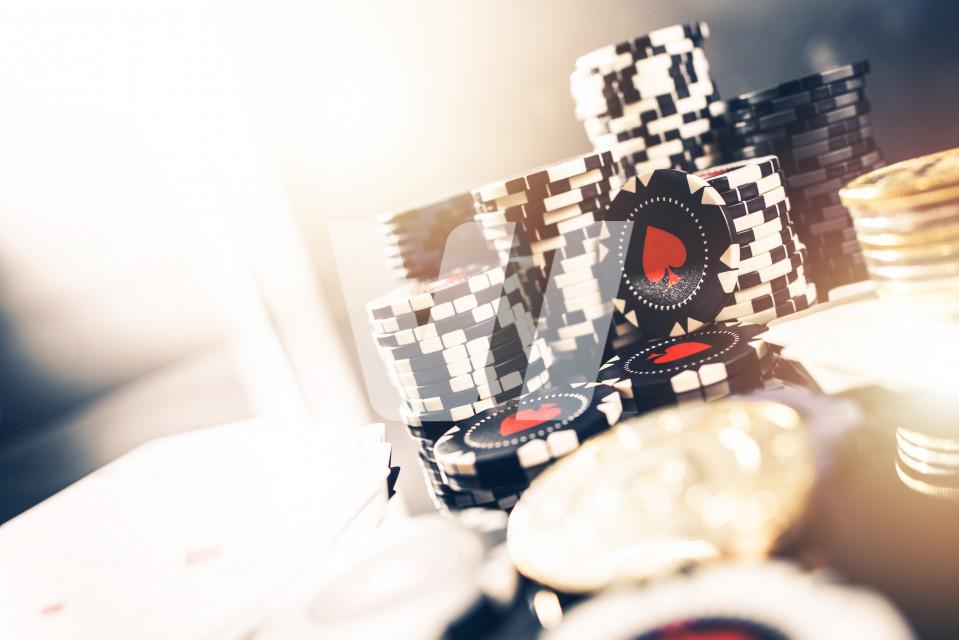 Casino Poker Chips Concept