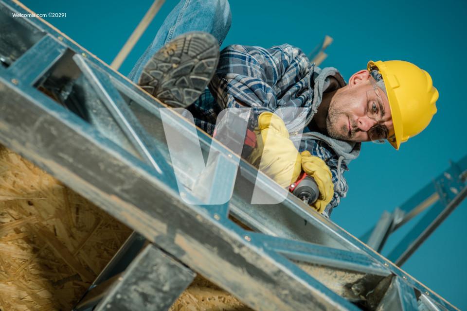 Caucasian Building Worker