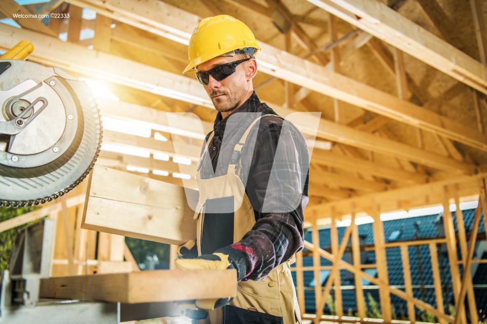Caucasian Carpenter Worker
