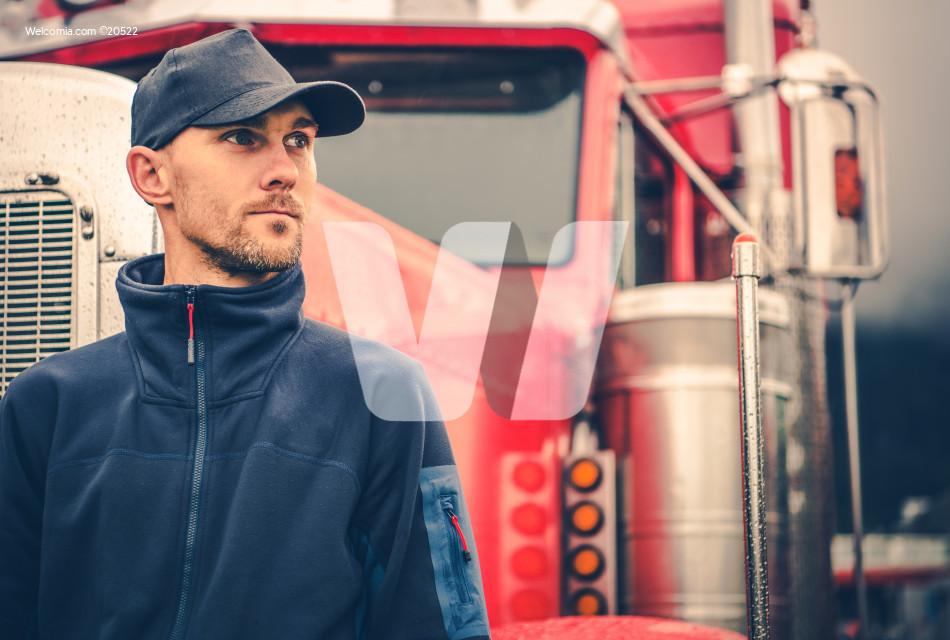 Caucasian Trucker Portrait