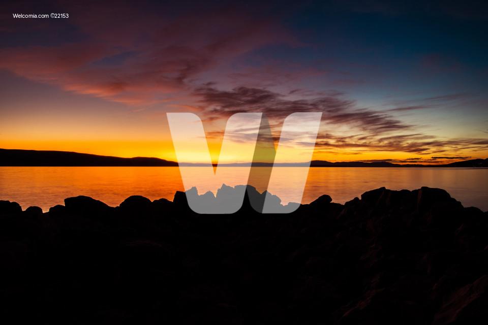 Coastal Sunset Background
