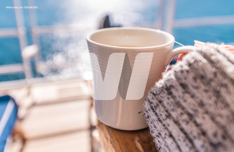 Coffee Break on the Cruise Ship Main Deck