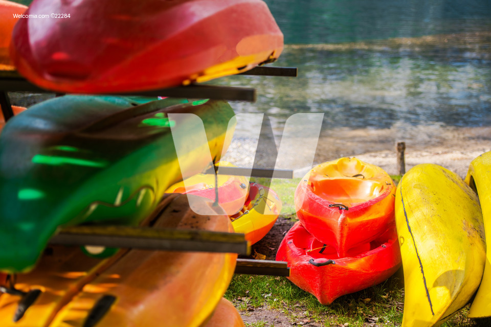 Colorful Lake Kayaks