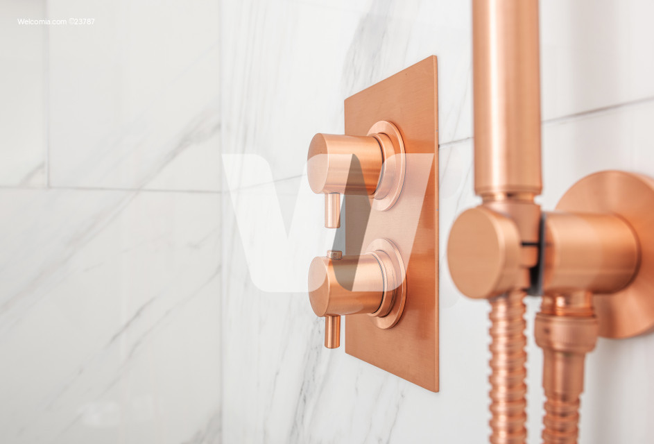 Copper Metallic Shower Water Control Valves