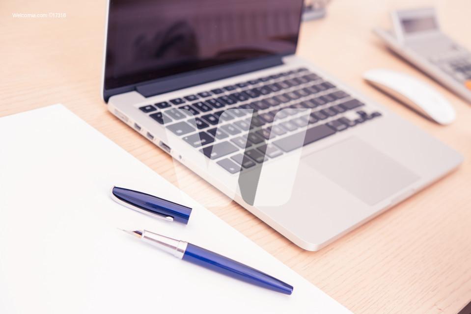 Creative Desktop with Laptop